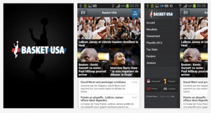 Quelques copies d'écran de l'application