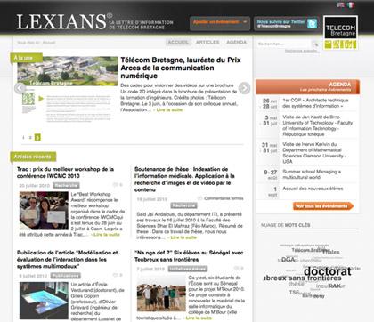 Page d'accueil de Lexians